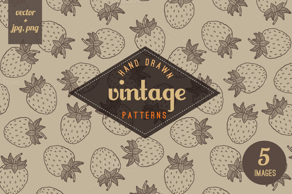 Vintage Seamless Berries Pattern