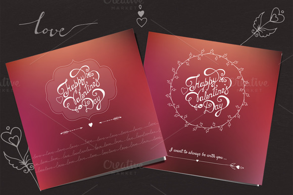 Valentine S Day Vector Cards