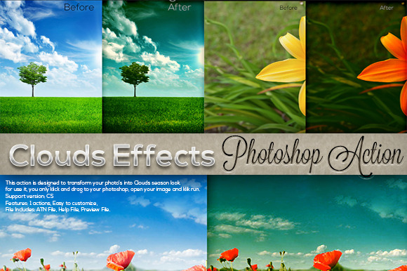 Clouds Actions Photoshop Action