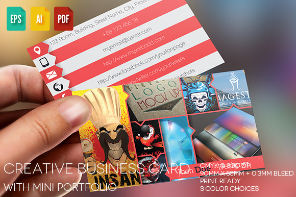 Single Creative Business Card V5