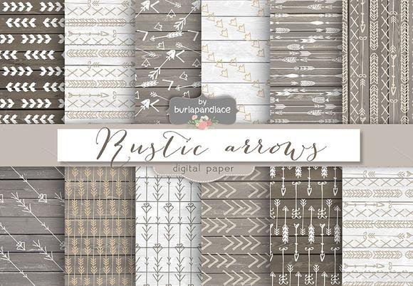 Rustic Arrows Digital Papers