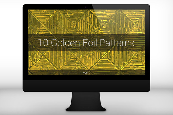 Golden Foil Seamless Patterns