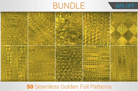 50 Seamless Golden Foil Patterns