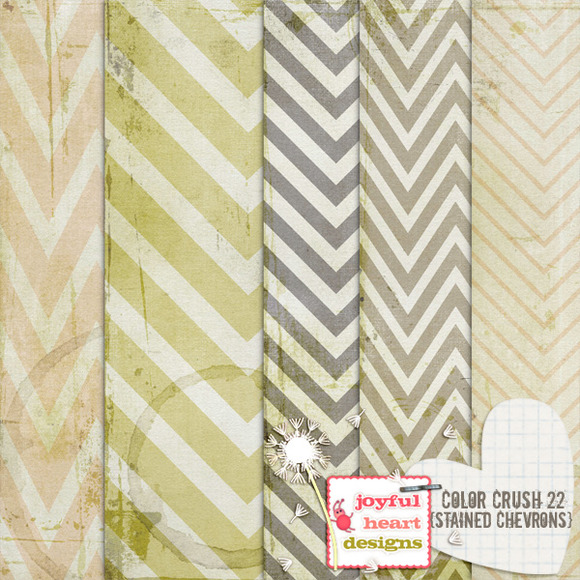 Color Crush 22 {stained Chevrons}