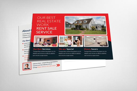 Real Estate Postcards Template