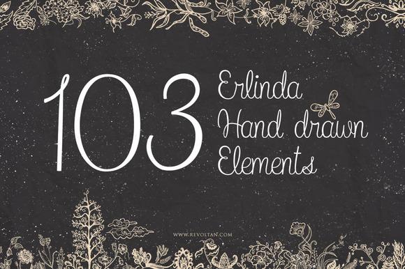 103 Erlinda Hand Drawn Elements