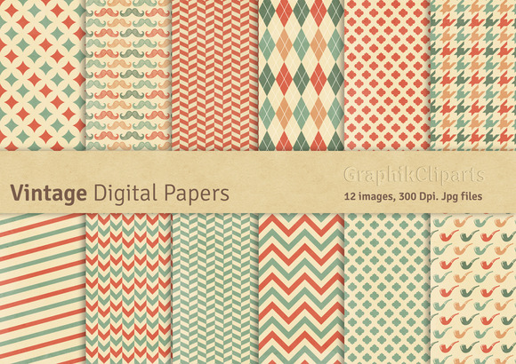 Vintage Digital Papers
