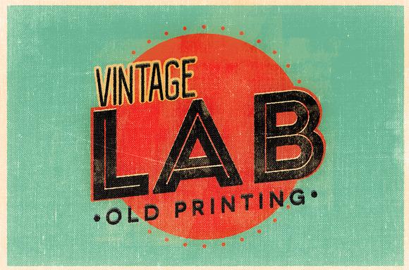 Vintage Lab Old Printing