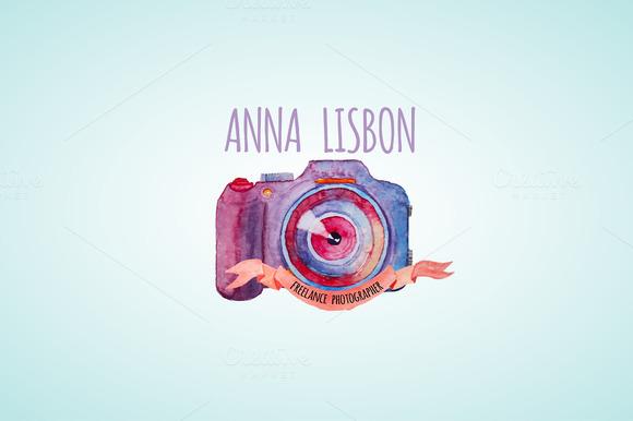Watercolor Photographer Logo