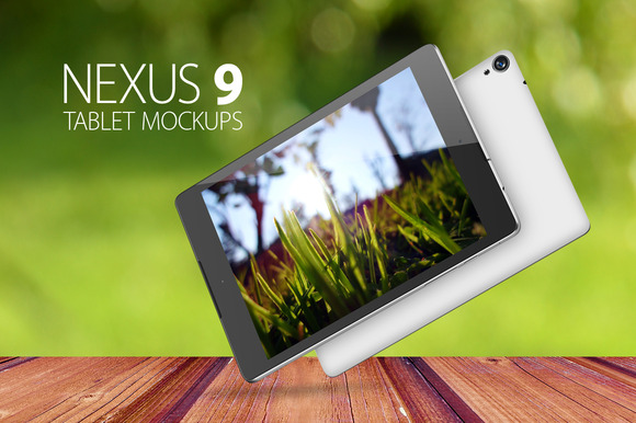 Nexus 9 Tablet Mockups