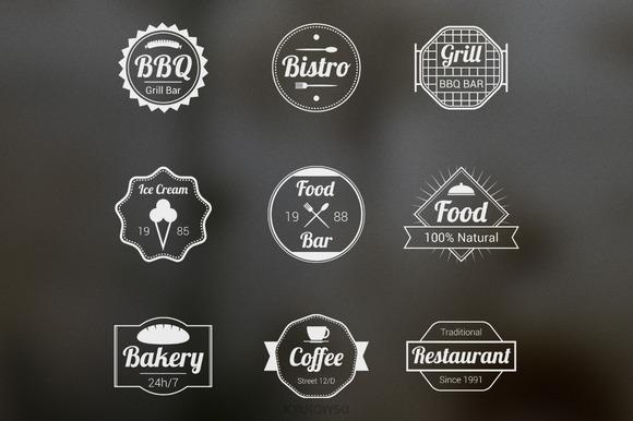 Food Badges Vectors