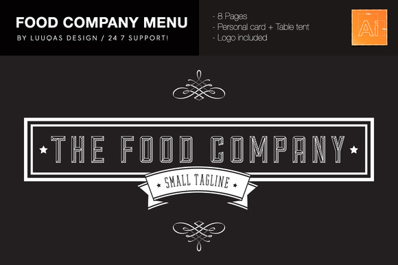 Food Company Menu