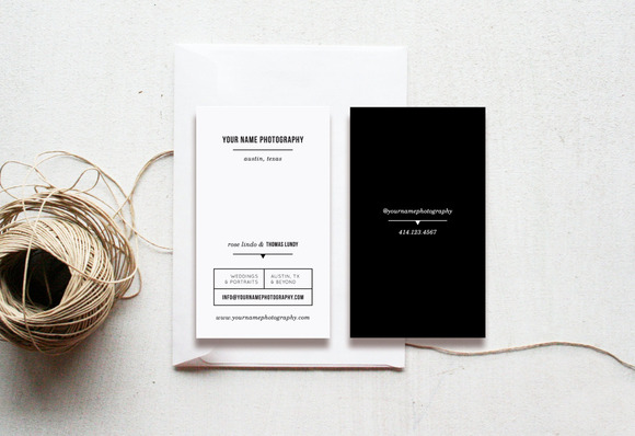 Modern Photographer Business Cards