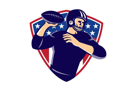 American Quarterback Football Player
