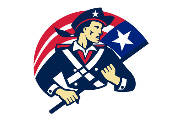 American Patriot Minuteman Flag Retr