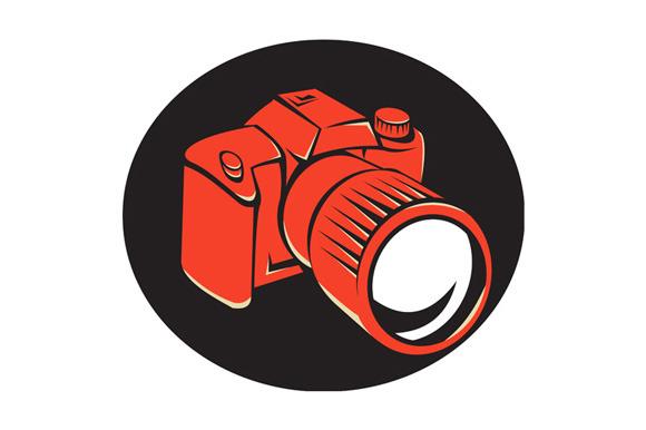 DSLR Digital Camera Front Retro