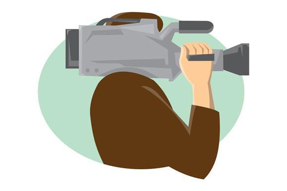Cameraman Movie Video Camera Side Re