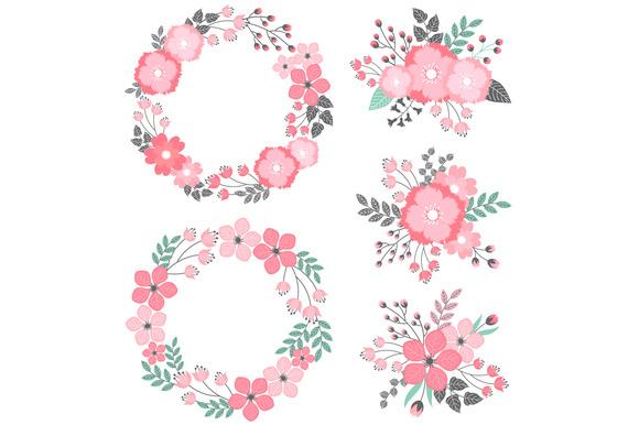 Pastel Floral Wreath Bouquets