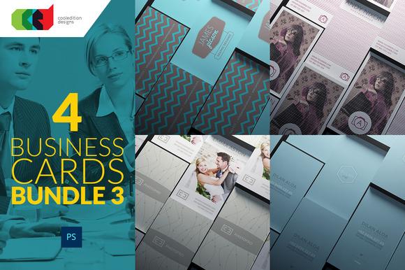4 Business Cards Bundle 3