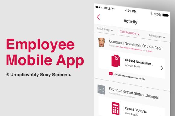 Employee Mobile App Screens