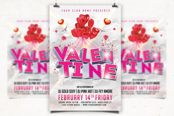 Valentine Date Party Flyer
