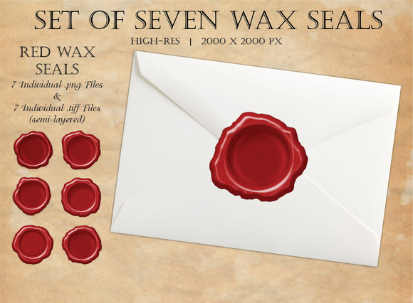 Wax Seals Set Of Seven