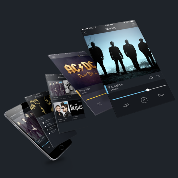 Music Audio App PSD