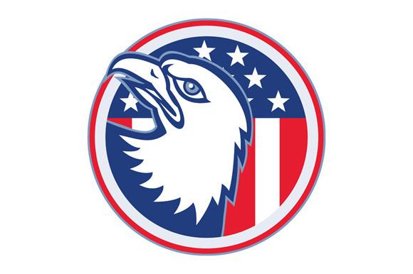 Eagle Head American Stars Stripes Fl