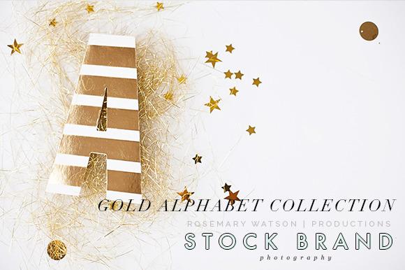 Gold Alphabet Styled Image Bundle