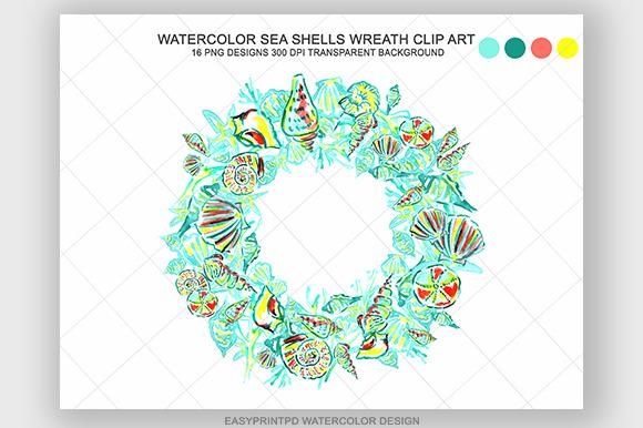 Watercolor Sea Shell Clip Art