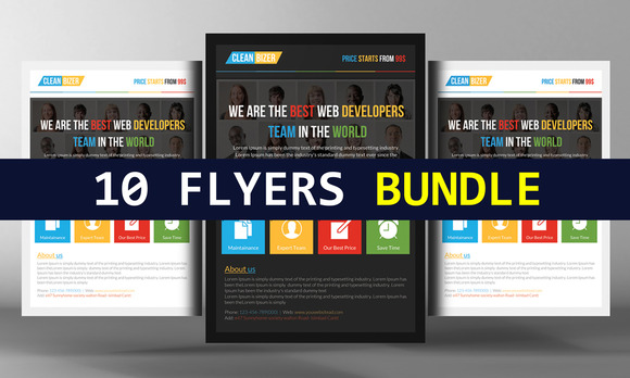 10 Business Corporate Flyers Bundle