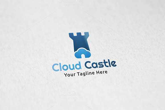 Cloud Castle Logo Template