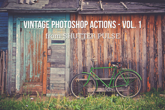 Vintage Photoshop Actions Vol 1
