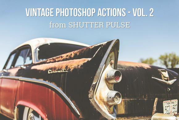 Vintage Photoshop Actions Vol 2