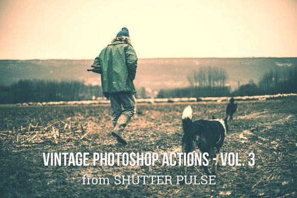 Vintage Photoshop Actions Vol 3