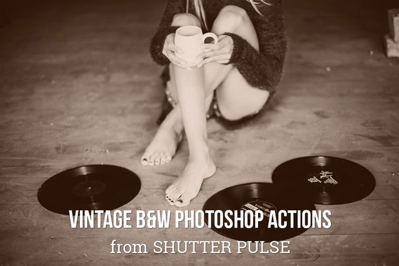 Vintage B W Photoshop Actions