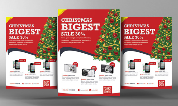 Christmas Products Flyer Template