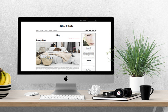 Black Ink Feminine WordPress Theme
