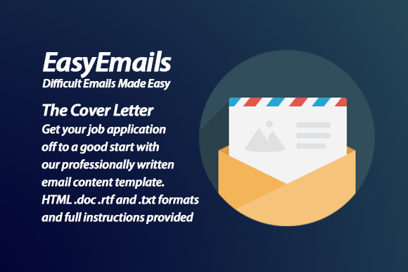 Cover Letter Email Content Template