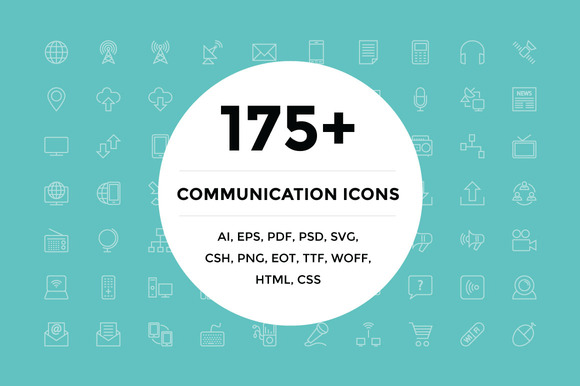 175 Communication Icons