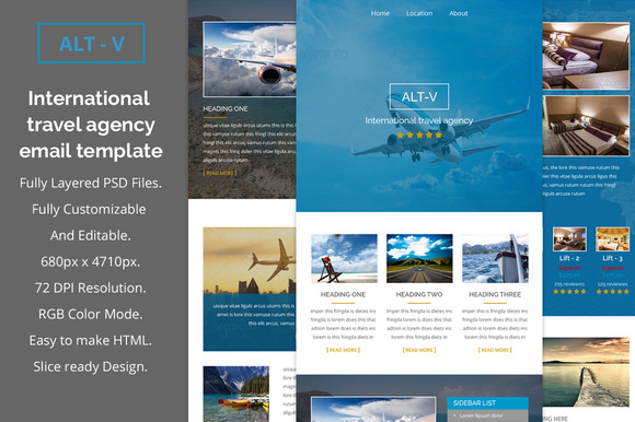 ALT-V Travel Agency Email Template
