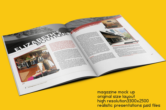 Magazine Mock Up