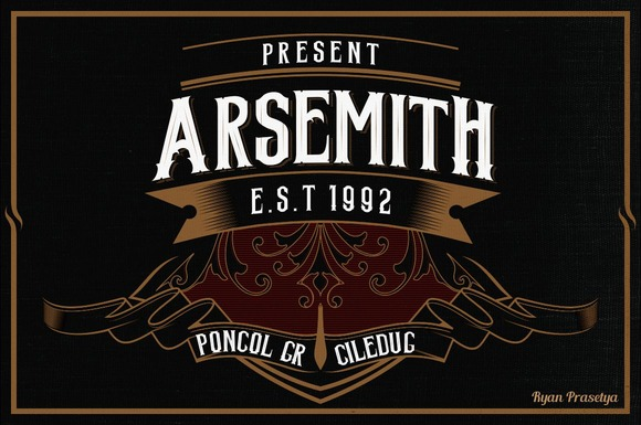Arsemith Bonus Poster Artdeco