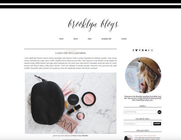 Brooklyn Premade Blogger Theme