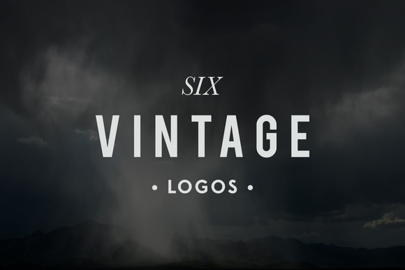 Six Rustic Logos