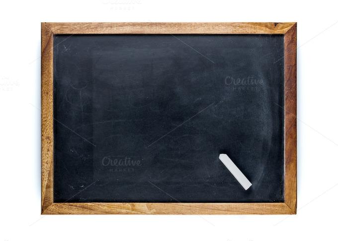 Blank Slate With A Chalk