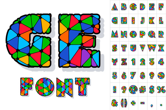 Multicolored Vector Alphabet