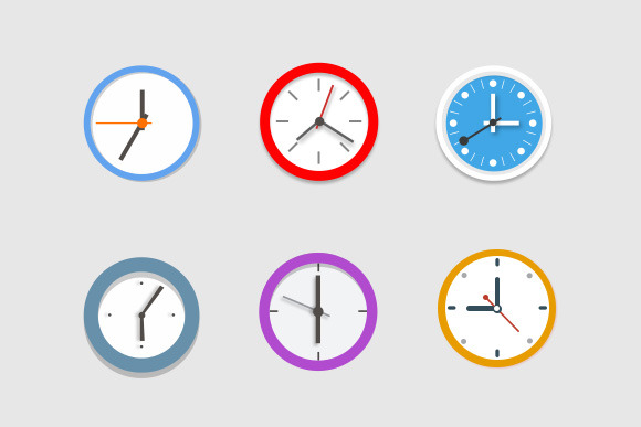 Six Clock Icons