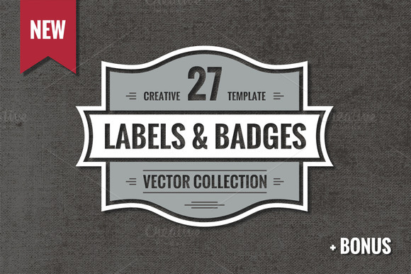 27 Vintage Vector Labels Badges