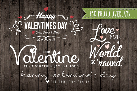 Valentine Photo Overlay Set PSD